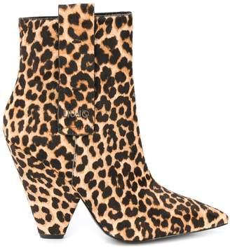 Liu Jo leopard print ankle boots