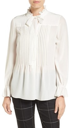 Women's Elie Tahari 'Everette' Silk Blouse $298 thestylecure.com