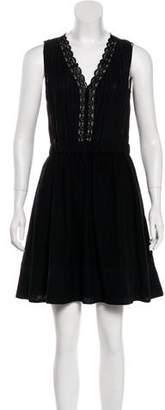 Diane von Furstenberg Crochet-Trimmed Mini Dress