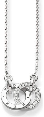 Thomas Sabo Together sterling silver and diamond necklace