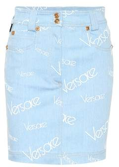 Versace Vintage Logomania denim miniskirt