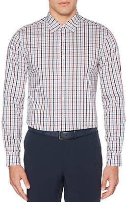 Perry Ellis Plaid Total Stretch Regular-Fit Button-Down Shirt