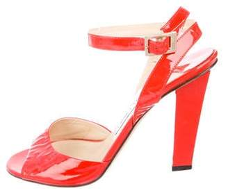 Jimmy Choo Patent Leather Ankle-Strap Sandals