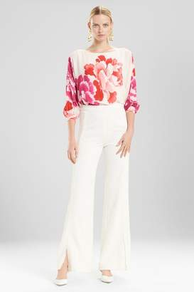 Josie Natori Core Crepe Grosgrain Seamed Pants