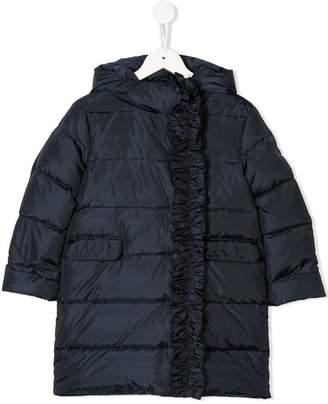 Il Gufo ruffle trimming padded coat