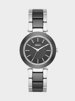 Donna Karan Donnakaran Stanhope Stainless-Steel And Black Ceramic Three-Hand Watch