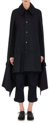 Yohji Yamamoto Women's Wool Twill Cape-BLACK $2,280 thestylecure.com