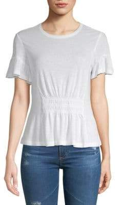 Rebecca Taylor Ruched Short-Sleeve Jersey Top