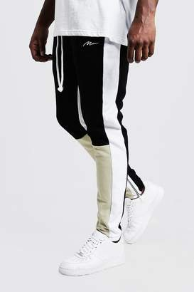 Big & Tall Skinny Fit MAN Colour Block Joggers