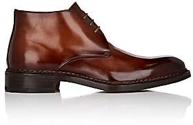 Fratelli Giacometti Men's Burnished Leather Chukka Boots-Brown