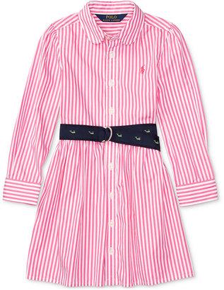 Ralph Lauren Striped Fit & Flare Shirtdress, Toddler & Little Girls (2T-6X) $49.50 thestylecure.com