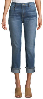 Parker Smith Anti-Fit Rolled-Cuffs Crop Jeans