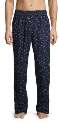 Michael Kors Plaid Fleece Lounge Pants