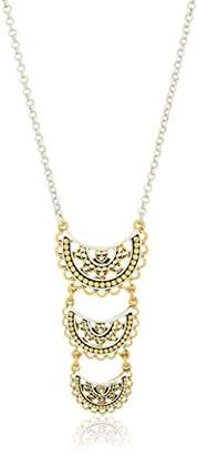 Lucky Brand Openwork Three Tier Pendant Necklace