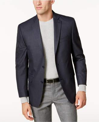 Michael Kors Men's Big & Tall Classic-Fit Blue Check Sport Coat