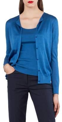 Akris Silk Blend Intarsia Cardigan