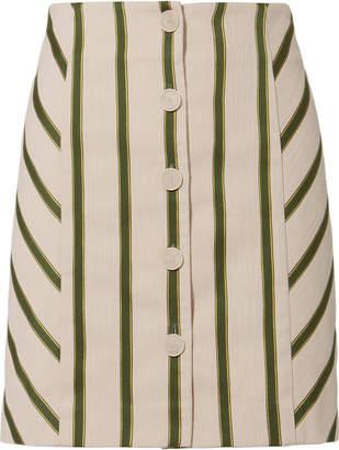 Intermix Monica Striped Skirt
