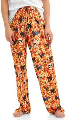 Owl Night Long Mens Jersey Sublimation PJ Pants with Drawstring