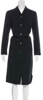 Prada Button-Up Knee-Length Dress
