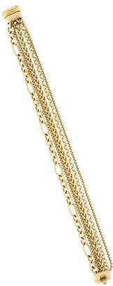 David Yurman 18K Five Row Chain Bracelet $3,695 thestylecure.com