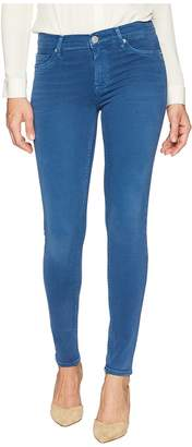 Hudson Nico Mid-Rise Ankle Super Skinny in Dusted Sapphire Women's Jeans