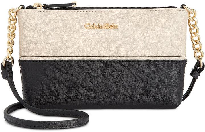 Calvin KleinCalvin Klein Mini Saffiano Leather Crossbody