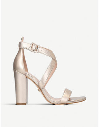 Kurt Geiger London Dover metallic leather heeled sandals