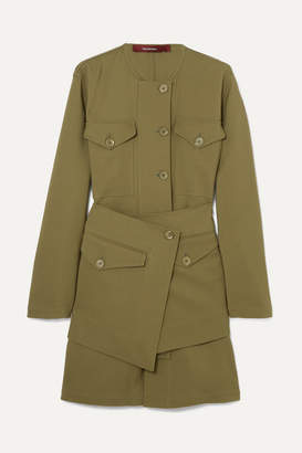 Sies Marjan - Ava Layered Wool-canvas Jacket - Army green