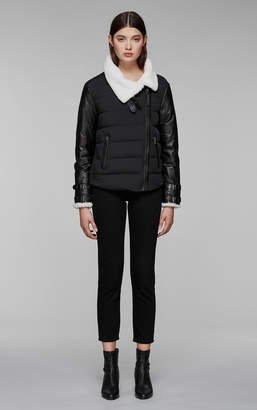 Mackage JOVIE RELAXED LIGHTWEIGHT DOWN WITH SHEEPSKIN