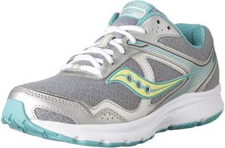 Saucony Women's Grid Cohesion 10 Running Shoes, Grey/Teal/Citron