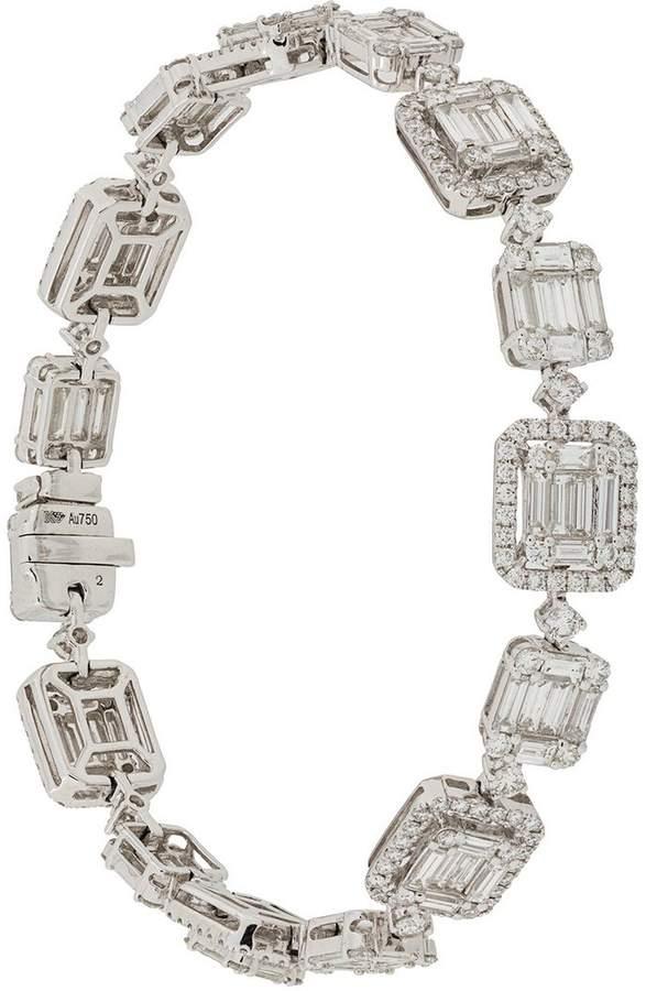 Gemco 18kt white gold and diamond bracelet