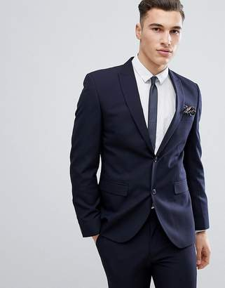 Next Slim Fit Suit Jacket In Navy