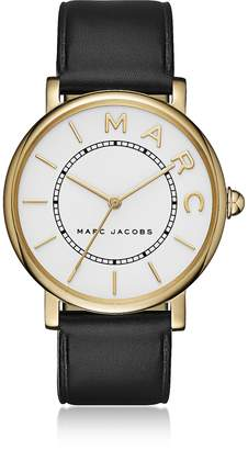 Marc Jacobs Roxy Gold Tone and Black Leather Women's Watch