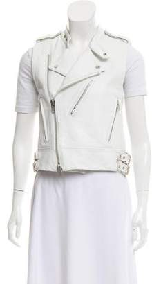 Sacai Leather Moto Vest