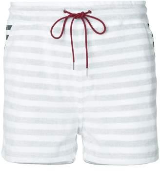 Loveless striped drawstring shorts