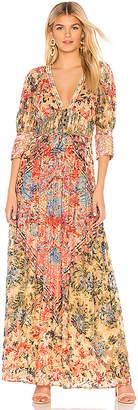 HEMANT AND NANDITA Printed Long Dress