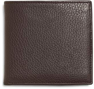 Brooks Brothers Pebble Leather Euro Wallet with Coin Case