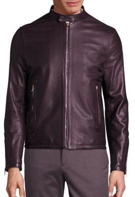 Paul SmithPaul Smith Sheep Leather Zip-Front Jacket