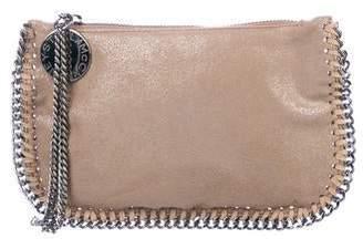 Stella McCartney Metallic Vegan Leather Falabella Clutch