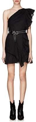 Etoile Isabel Marant Women's Teller One-Shoulder Linen Dress - Black