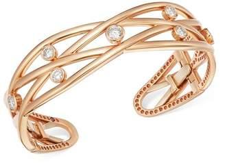 Roberto Coin 18K Rose Gold Baci Diamond Bangle Bracelet