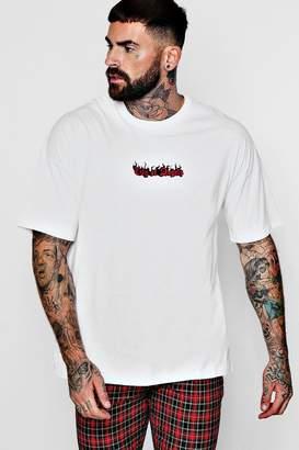 boohoo Drop Shoulder City Of Angels T-Shirt