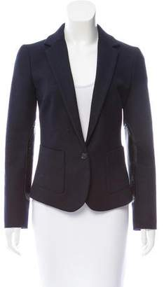 Calvin Klein Collection Leather-Accented Wool Blazer