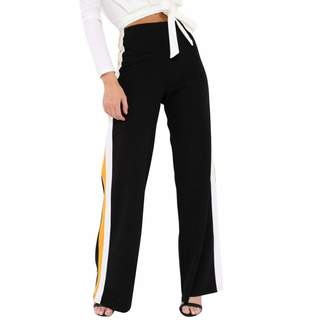 Pervobs Women Pants Pants for Women, Clearance! Pervobs Women Womens Loose High Waist Side Striped Wide Leg Yoga Casual Pants Sweatpants(S, )