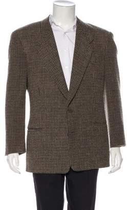 Giorgio Armani Houndstooth Virgin Wool Blazer