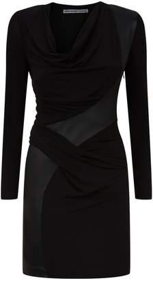 Alexander Wang Leather Panel Mini Dress