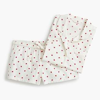 J.Crew Pajama set in strawberries