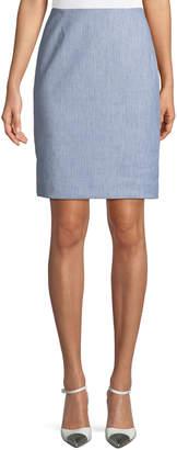 T Tahari Striped Twill Pencil Skirt