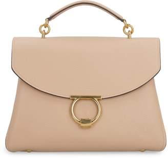 Salvatore Ferragamo Pebbled Leather Handbag