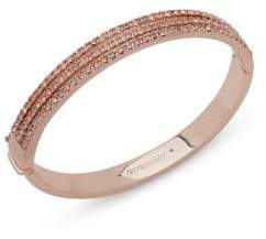 Givenchy Three-Row Pave Swarovski Crystal Bangle Bracelet
